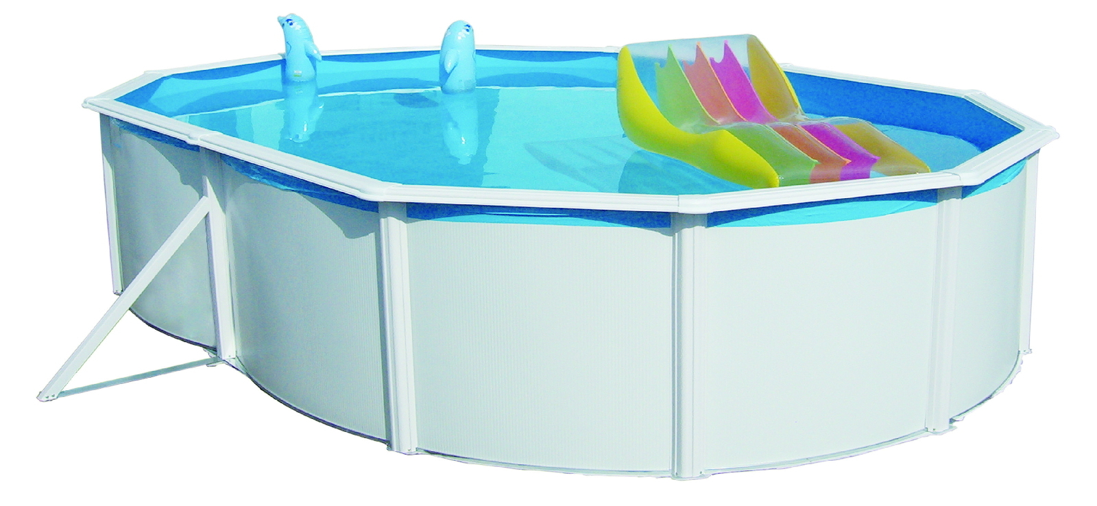 Stahlpool nuovodeluxe oval 550x366x120 bavchem for Stahl pool oval