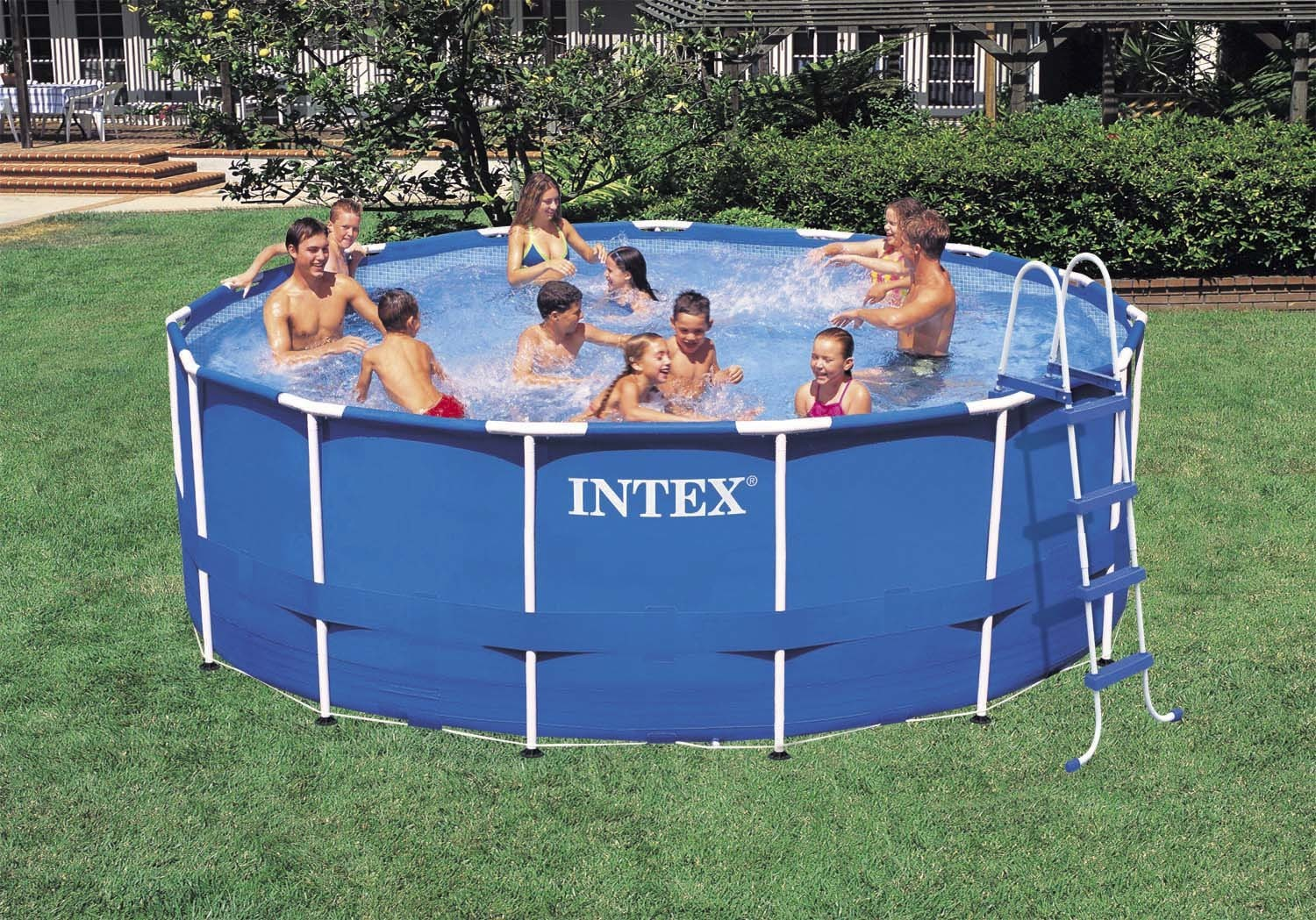 intex frame pool set rondo 457x122cm m zubeh r bavchem. Black Bedroom Furniture Sets. Home Design Ideas