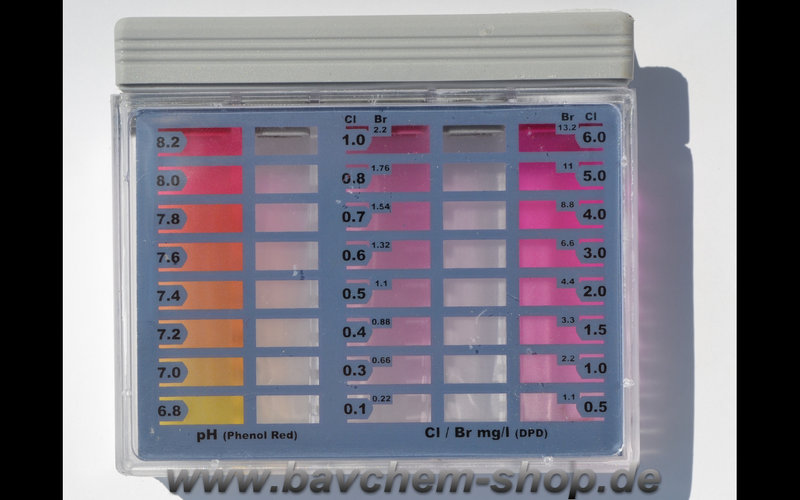 wassertester pt160 chlor ph wert 60 tests im bavchem shop haag. Black Bedroom Furniture Sets. Home Design Ideas
