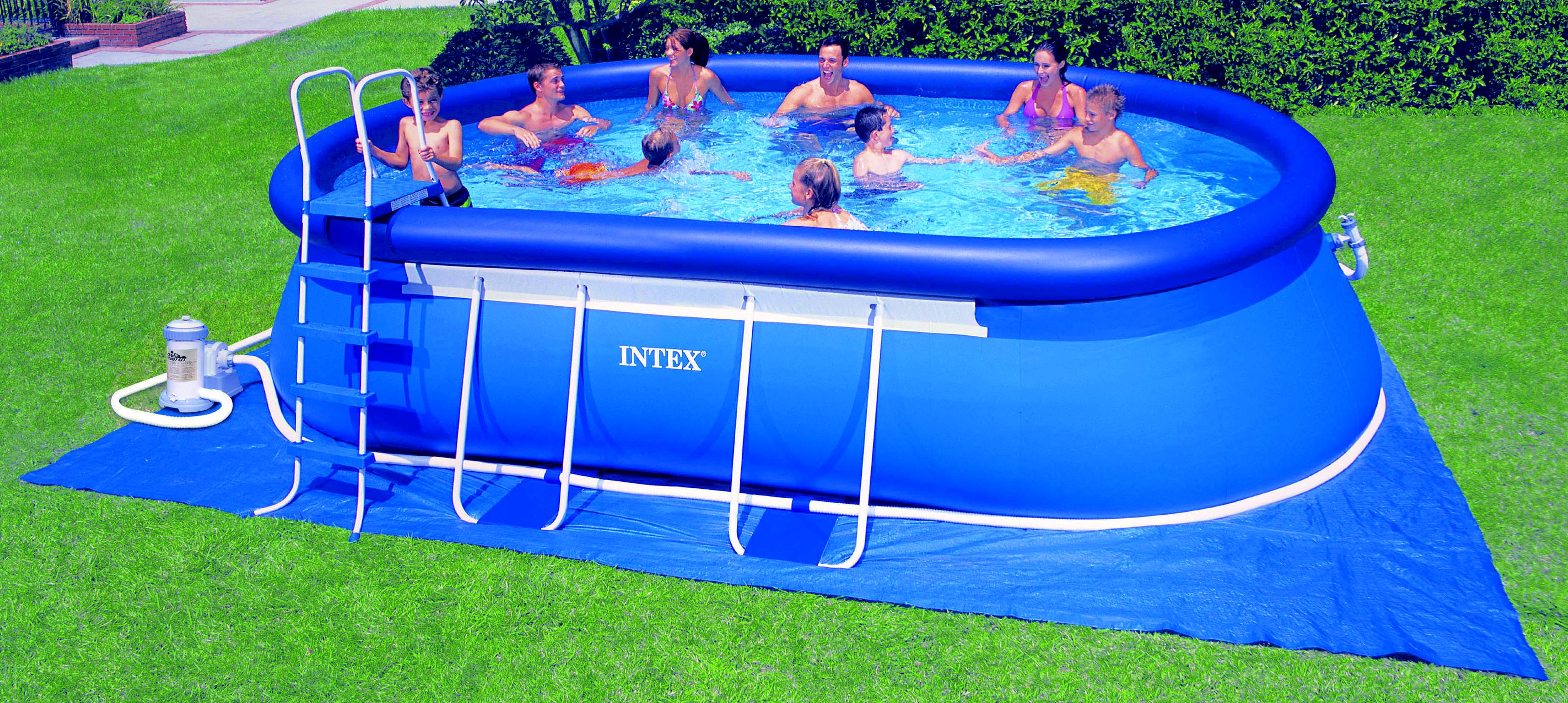 Pool zubeh r intex stutzenset propfenset siebgitter for Obi intex pool