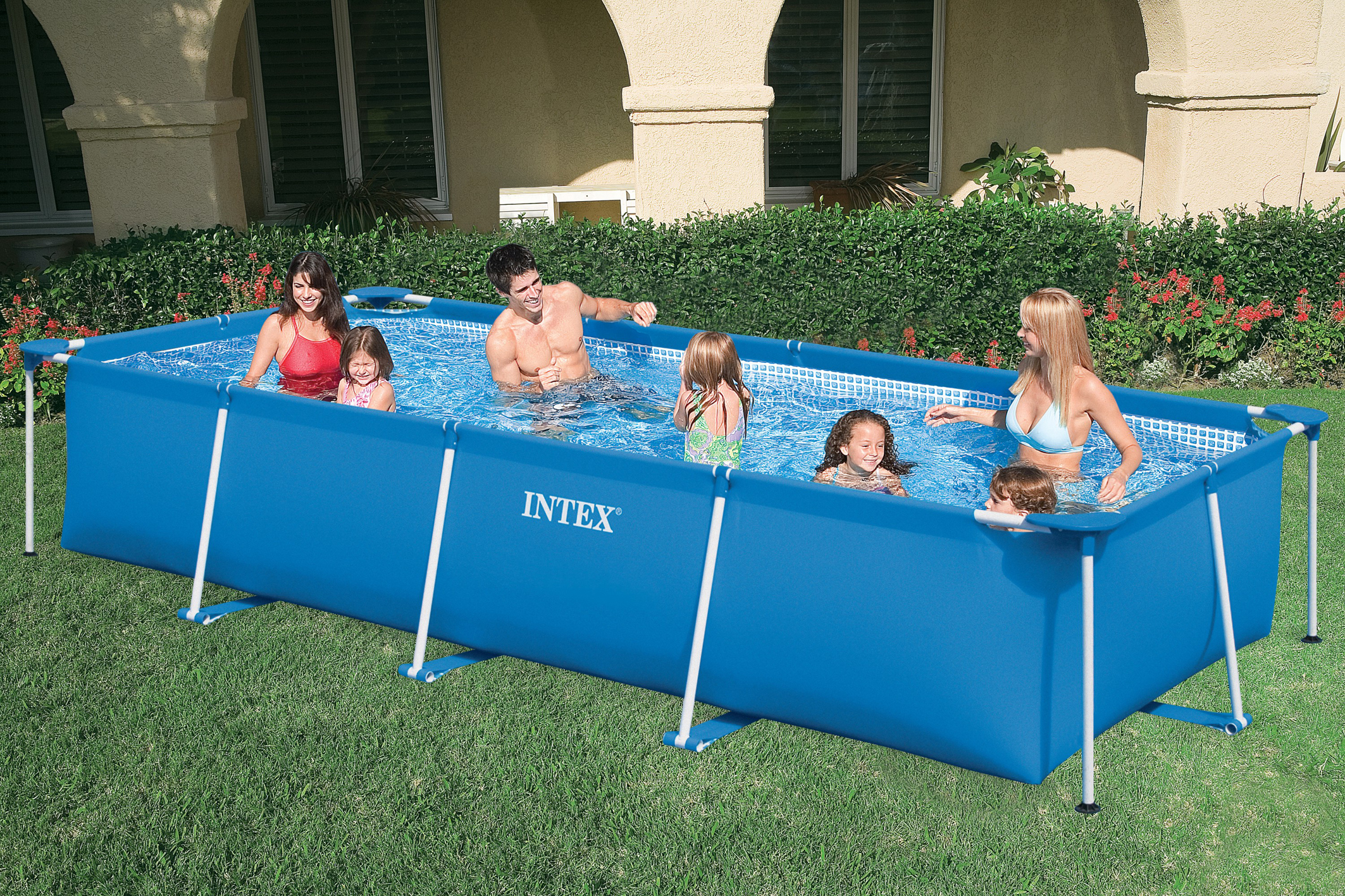 Aufstellpool family frame pool set intex for Alberca intex