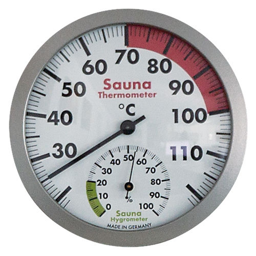 Sauna-Thermo-/Hygrometer 120mm